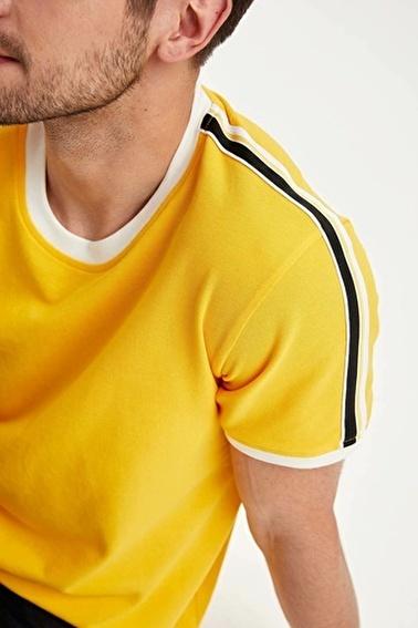 DeFacto Regular Fit T-Shirt Sarı